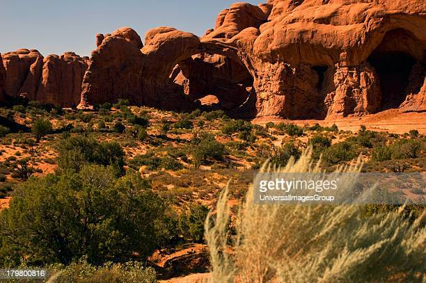 Utah Moab Arches National Park Double Arch