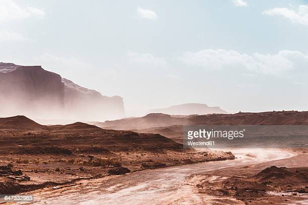 usa, utah, monument valley during a sand storm - sandy utah stock pictures, royalty-free photos & images