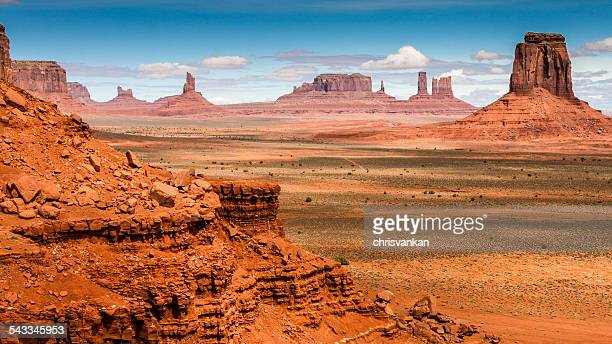USA, Utah, Monument Valley, Landscape with rock formations