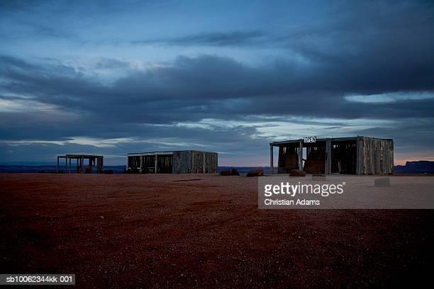 USA, Utah, Monument Valley, Trading post at dawn