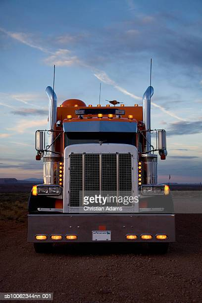 usa, utah, monument valley, truck at dawn - vehicle grille stock pictures, royalty-free photos & images