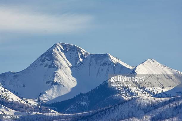 utah mountain peak in winter - hope imagens e fotografias de stock