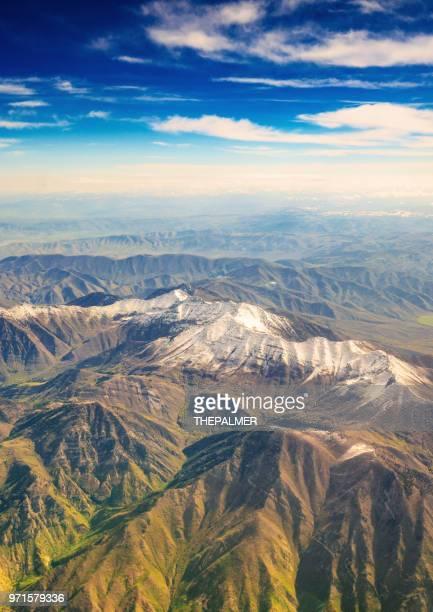 utah mountains aerial - spanish fork utah stock pictures, royalty-free photos & images