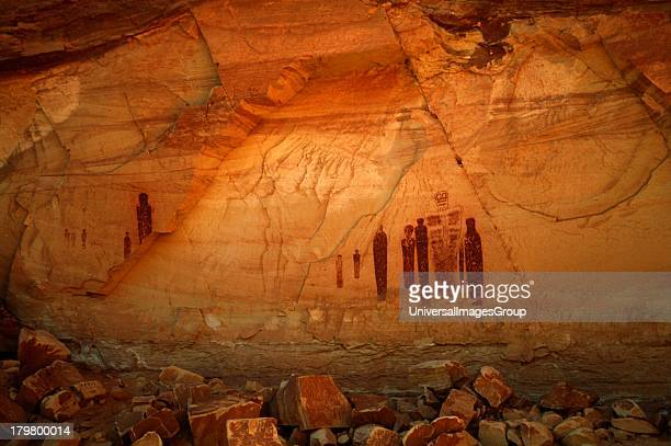 Utah Pictographs Great Gallery Detail Horsehoe Canyon Unit Canyon lands National Park