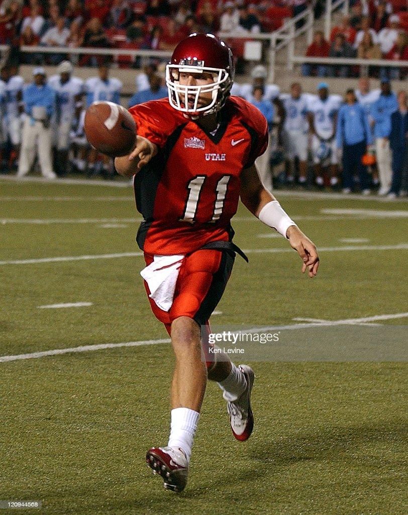 Utah quarterback Alex Smith (11) pitches the ball during the second quarter Saturday, Oct. 16, 2004 at Rice-Eccles Stadium in Salt Lake City, Utah