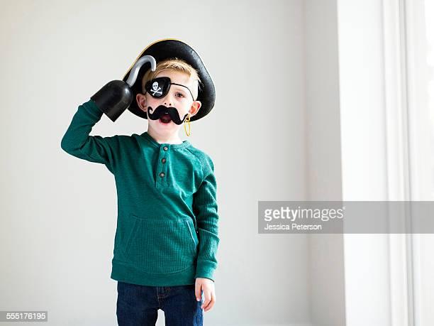 USA, Utah, Salt Lake City, Boy (2-3) dressed up as pirate