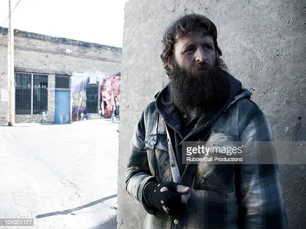 USA, Utah, Salt Lake City, homeless man in street