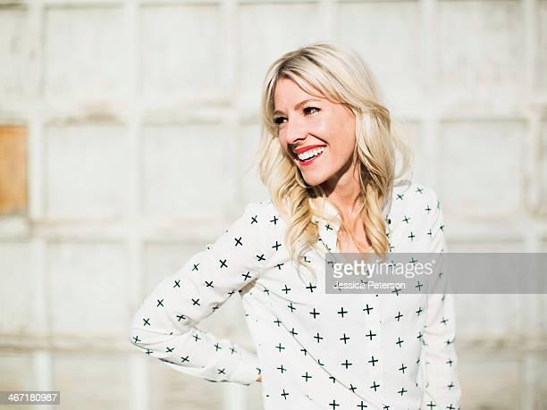 USA, Utah, Salt Lake City, Portrait of blonde woman