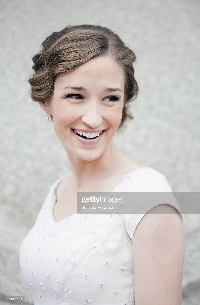 USA, Utah, Salt Lake City, Portrait of bride : Stock Photo