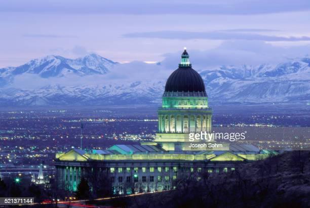 Utah State Capitol Building at Sunset