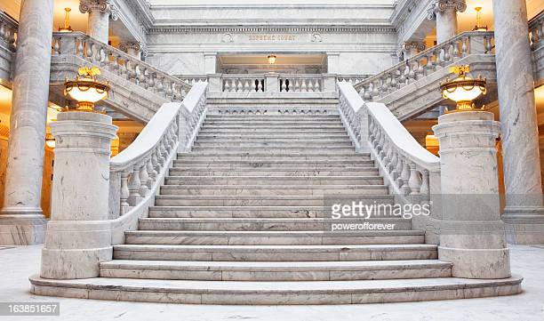 utah state capitol building - neo classical stock pictures, royalty-free photos & images