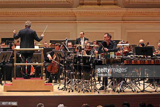Utah Symphony performing the 75th Anniversary concert at Carnegie Hall on Friday night, April 29, 2016.This image:Colin Currie performing Andrew...