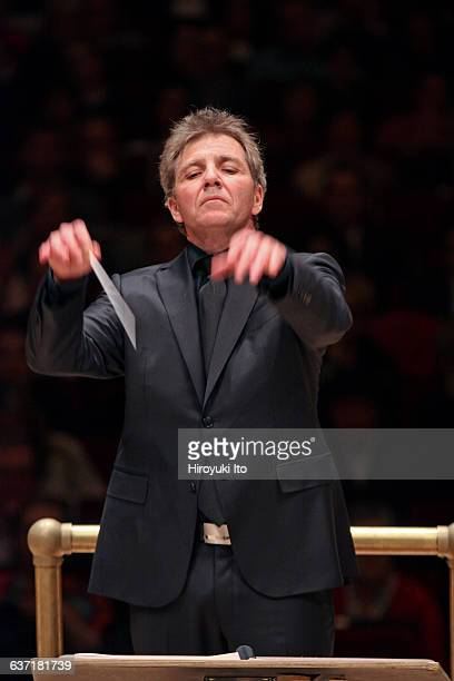 Utah Symphony performing the 75th Anniversary concert at Carnegie Hall on Friday night, April 29, 2016.This image:Thierry Fischer leading the Utah...