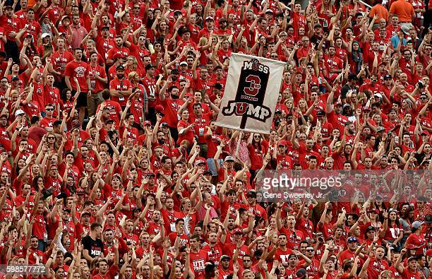 Utah Utes fans cheer for a third down stop by the defense in the first quarter against the Southern Utah Thunderbirds at RiceEccles Stadium on...
