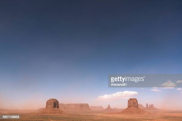 usa, utah, view of monument valley, navajo nation reservation - heat haze stock pictures, royalty-free photos & images