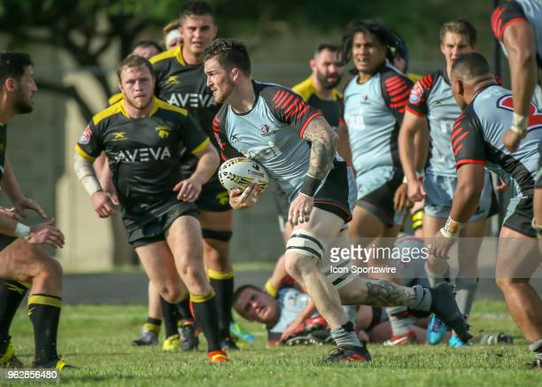 Utah Warriors Ben Nicholls carries the ball during the Major League Rugby match between the Utah Warriors and Houston SaberCats on May 26 2018 at...