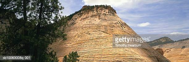 usa, utah, zion national park, checkerboard mesa - timothy hearsum stock-fotos und bilder