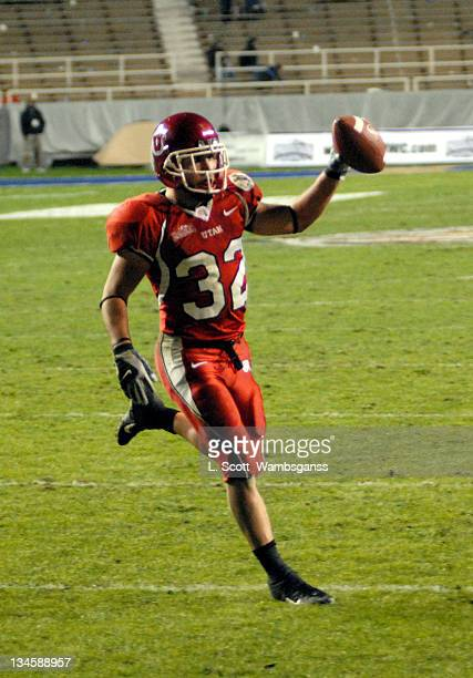 Utah's Eric Weddle seals the victory with his touchdown during the Armed Forces Bowl played at Amon Carter Stadium in Ft Worth Texas on December 23,...