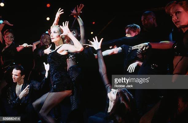 Ute Lemper and fellow cast members perform in the musical Chicago at the Adelphi Theatre in London Music and lyrics John Kander and Fred Ebb