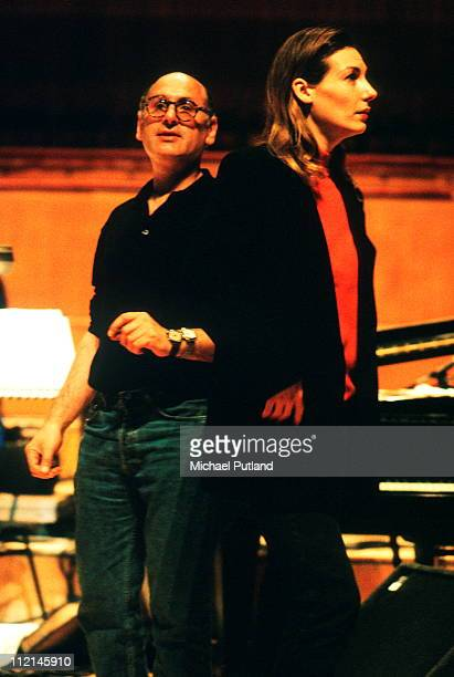 Ute Lemper and Michael Nyman perform on stage Royal Festival Hall London 1992