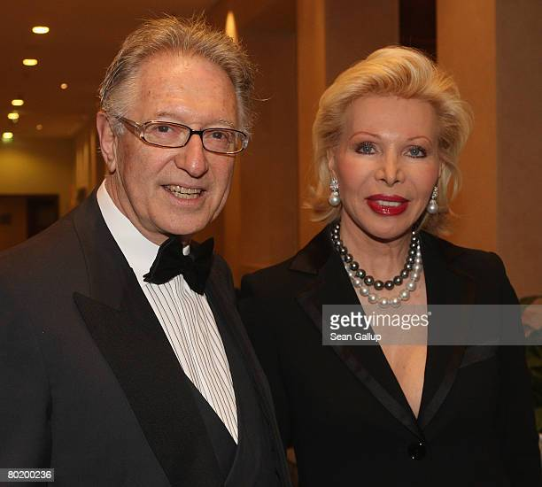 Ute Ohoven and B'nai B'rith Europe President Reinold Simon attend the B'nai B'rith Europe Award of Merit at the Marriot hotel on March 11 2008 in...