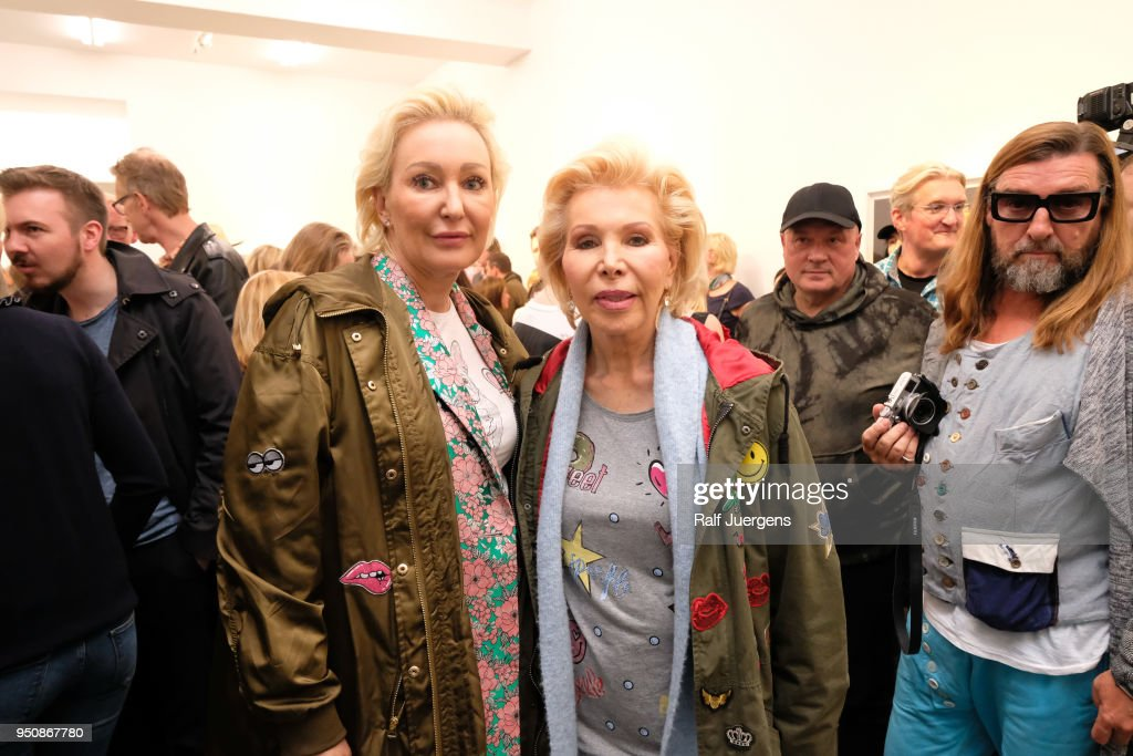 Ute Ohoven (R) and her daughter Claudia Jerger (L) attend the 'LACHAPELLE - Negative Currency' Exhibition Opening at Geuer und Geuer on April 24, 2018 in Duesseldorf, Germany. The exhibition will run from 24th April till 20th June 2018.