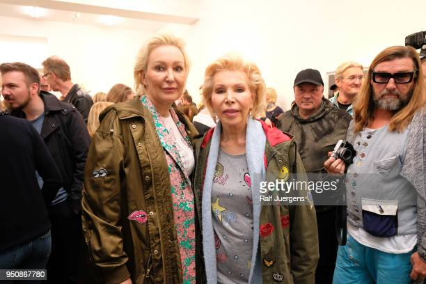 Ute Ohoven and her daughter Claudia Jerger attend the 'LACHAPELLE Negative Currency' Exhibition Opening at Geuer und Geuer on April 24 2018 in...
