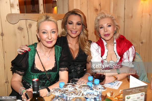 Ute Ohoven and her daughters Claudia Jerger and Chiara Ohoven during the 27th Weisswurstparty at Hotel Stanglwirt on January 19 2018 in Going near...