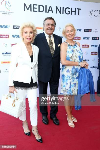 Ute Ohoven and her husband Mario Ohoven and her daughter Claudia Jerger attend the media night of the CHIO 2017 on July 18 2017 in Aachen Germany