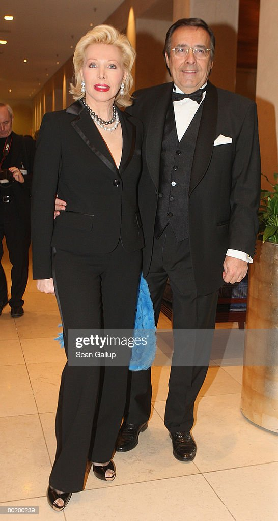 Ute Ohoven and her husband Mario Ohoven attend the B'nai B'rith Europe Award of Merit at the Marriot hotel on March 11, 2008 in Berlin, Germany.