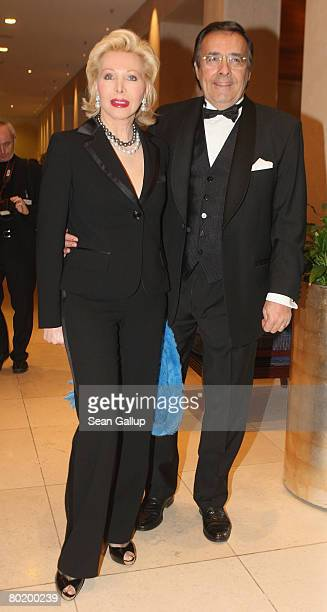Ute Ohoven and her husband Mario Ohoven attend the B'nai B'rith Europe Award of Merit at the Marriot hotel on March 11 2008 in Berlin Germany