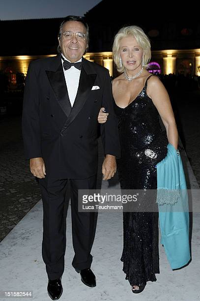 Ute Ohoven and Mario Ohoven arrive for the wedding party at at Charlottenburg Palace on September 8 2012 in Potsdam Germany