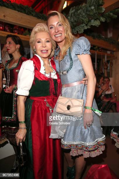 Ute Ohoven Lilly zu SaynWittgensteinBerleburg during the 27th Weisswurstparty at Hotel Stanglwirt on January 19 2018 in Going near Kitzbuehel Austria