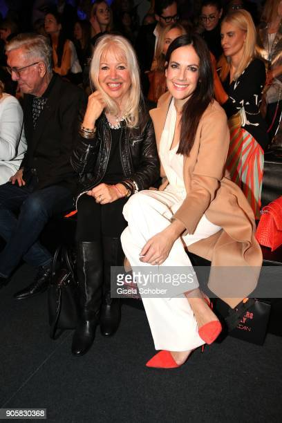Ute Schlotterer and Actress Bettina Zimmermann during the Marc Cain Fashion Show Berlin Autumn/Winter 2018 at metro station Potsdamer Platz at on...
