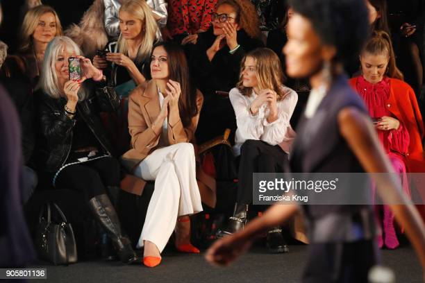 Ute Schlotterer Bettina Zimmermann Marie Baeumer and Victoria Swarovski during the Marc Cain Fashion Show Berlin Autumn/Winter 2018 at metro station...