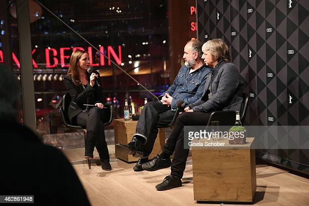 Ute Soldierer, Peter Rommel and Andreas Dresen speak at the Berlinale Open House at the AUDI Lounge during the 65th Berlinale International Film...