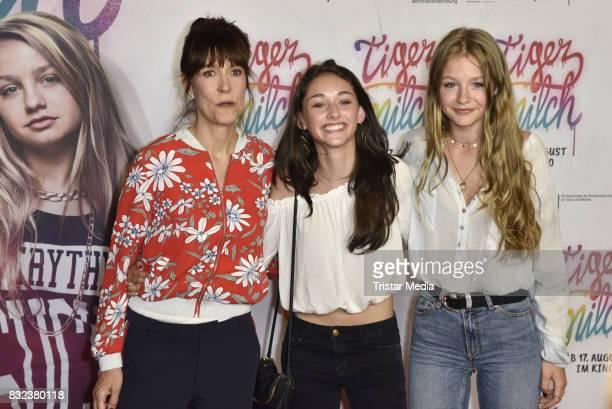 Ute Wieland, Flora Li Thiemann and Emily Kusche attend the 'Tigermilch' Premiere at Kino in der Kulturbrauerei on August 15, 2017 in Berlin, Germany.