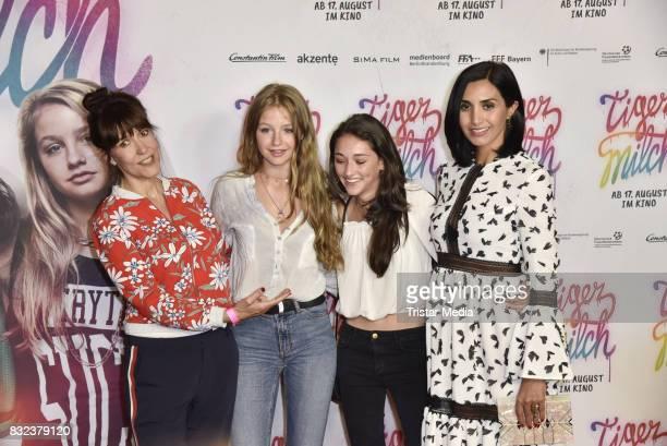 Ute Wieland, Flora Li Thiemann, Emily Kusche and Narges Rashidi attend the 'Tigermilch' Premiere at Kino in der Kulturbrauerei on August 15, 2017 in...