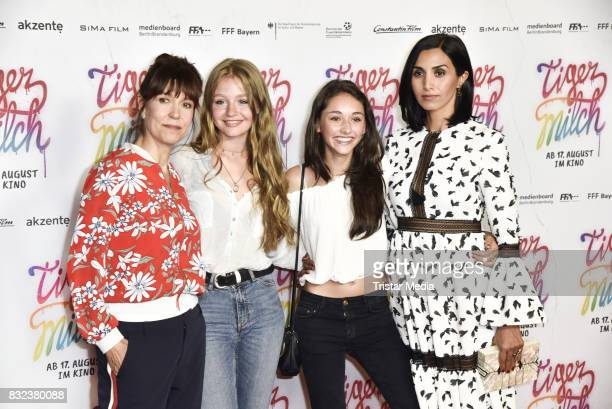 Ute Wieland Flora Li Thiemann Emily Kusche and Narges Rashidi attend the 'Tigermilch' Premiere at Kino in der Kulturbrauerei on August 15 2017 in...