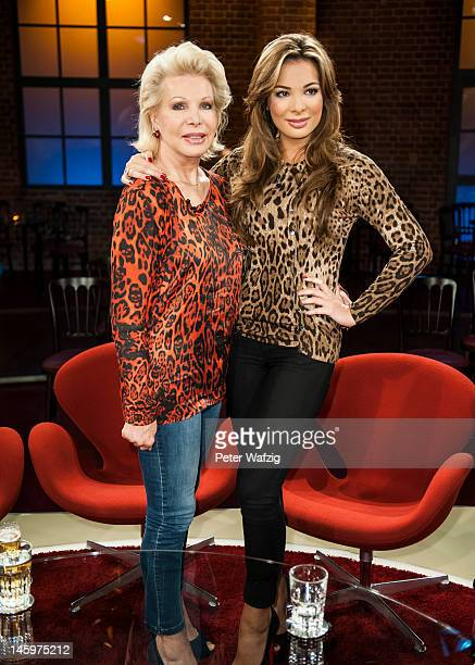 UteHenriette Ohoven and her daughter Chiara Ohoven attend the Koelner Treff TV Show at the WDR Studio on June 08 2012 in Cologne Germany