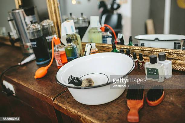 Utensils in a barber shop