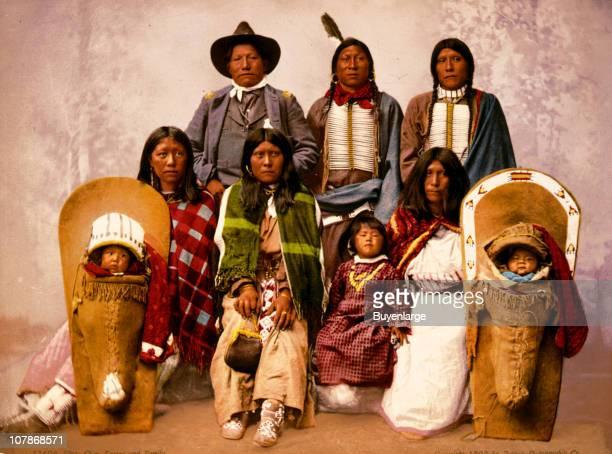 UtesChief Sevara [i e Severo] and family in color 1899