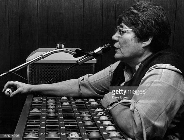 41983 uth Yoches is the Manager of the Thursday nite Game and has been for the last 81/2 years Here she is calling the numbers for the game She was...