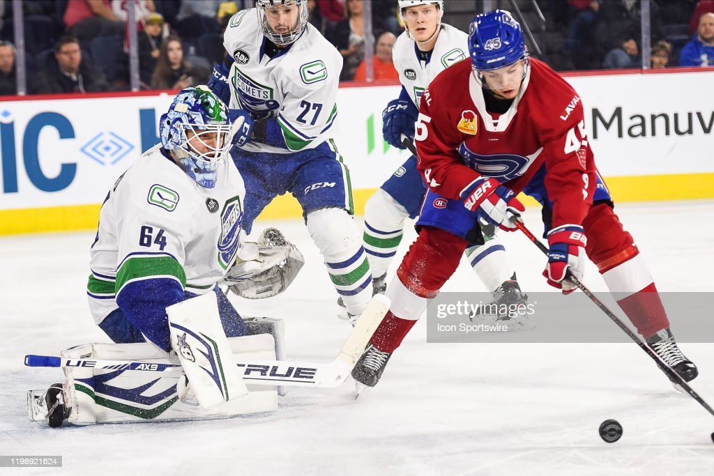 AHL: FEB 05 Utica Comets at Laval Rocket : News Photo