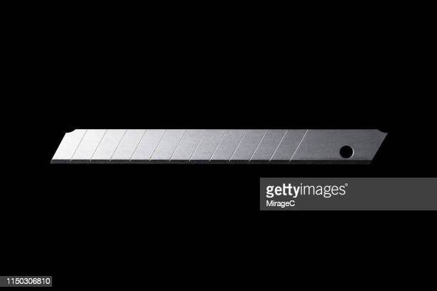 utility knife replacement blade - miragec stock pictures, royalty-free photos & images