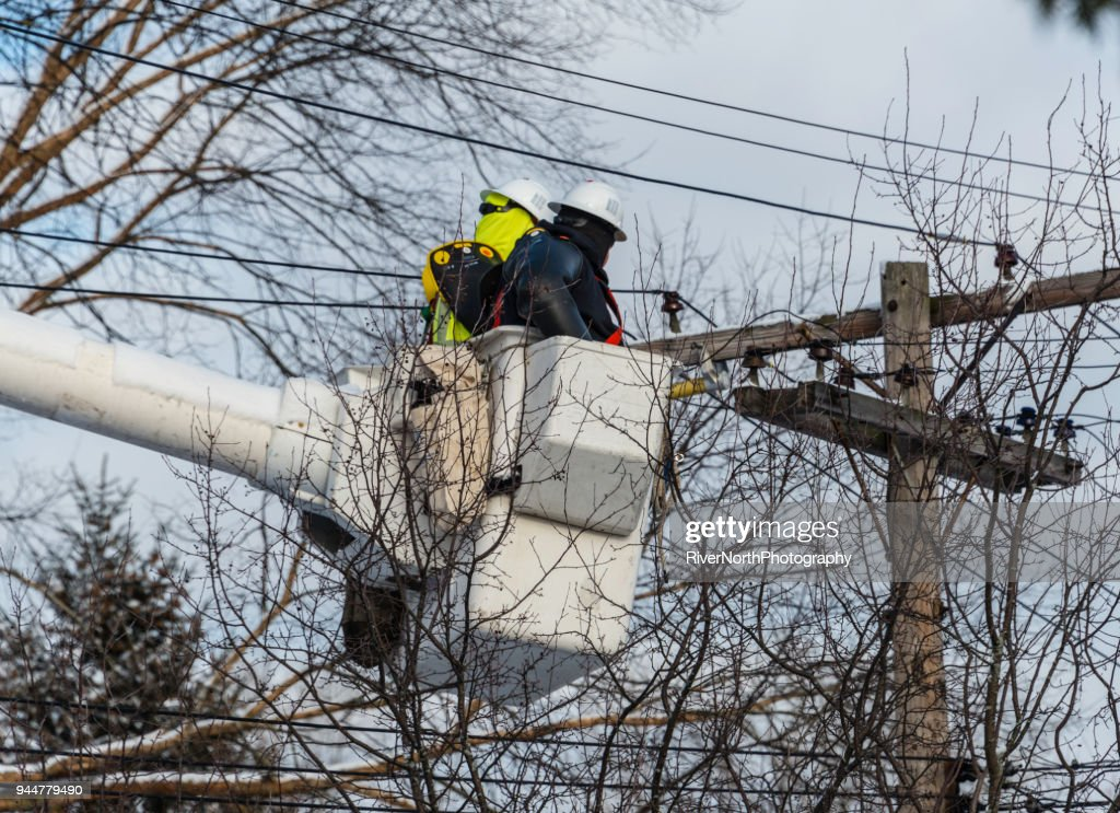Utility Workers Doing Maintenance Work : Stock Photo