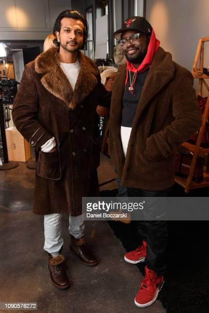 Utkarsh Ambudkar and Lil Rel Howery attend the Vulture Spot during Sundance Film Festival on January 27 2019 in Park City Utah