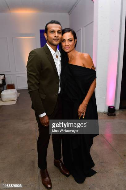 Utkarsh Ambudkar and Naomi Campbell attend the premiere of Amazon Studios' Brittany Runs A Marathon on August 15 2019 in Los Angeles California