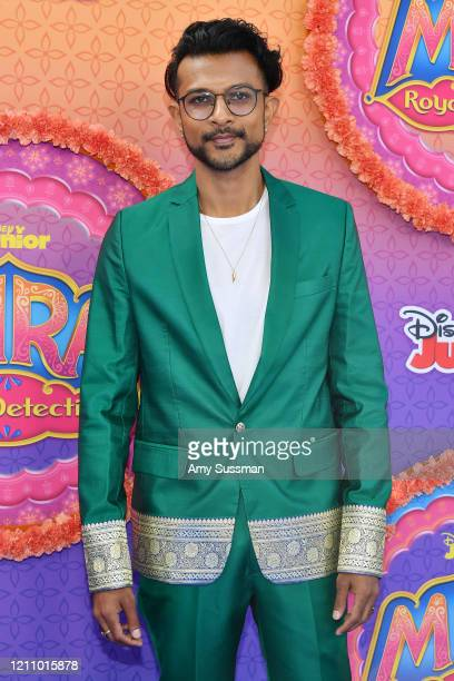 Utkarsh Ambudkar attends the premiere of Disney Junior's Mira Royal Detective at Walt Disney Studios Main Theater on March 07 2020 in Burbank...