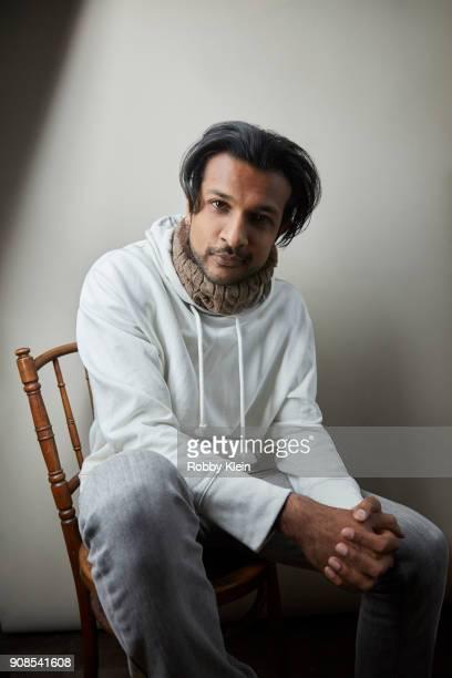 Utkarsh Ambudkar from the film 'Blindspotting' poses for a portrait at the YouTube x Getty Images Portrait Studio at 2018 Sundance Film Festival on...